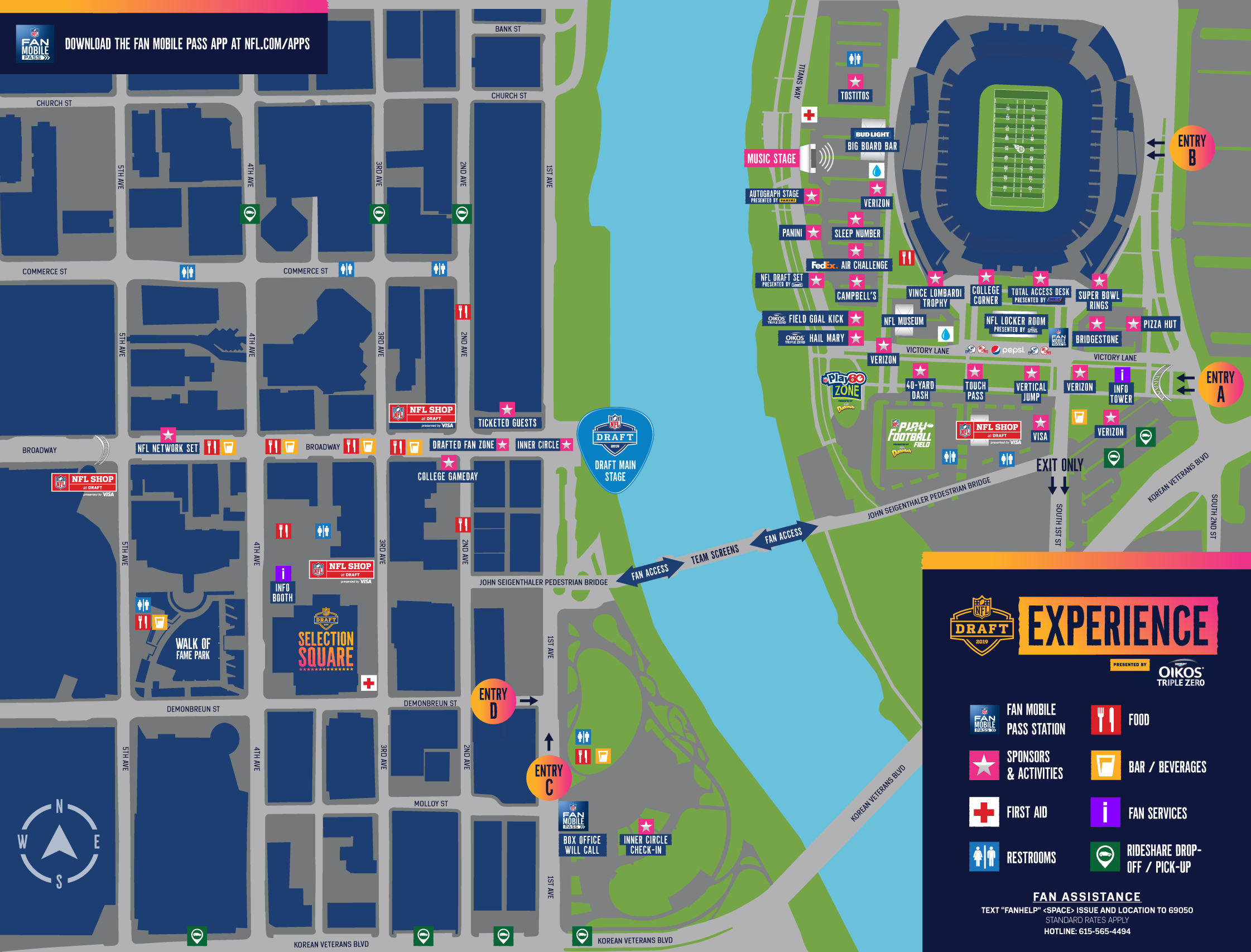 FanFacing CampusMap - How To Get Free Tickets For Nfl Draft In Nashville