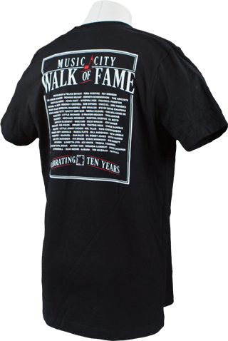 Music City Walk of Fame Black T-Shirt Back