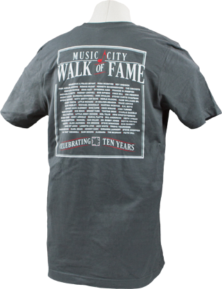Music City Walk of Fame Grey T-Shirt Back
