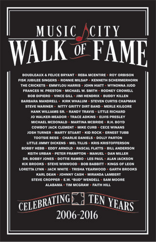 Music City Walk of Fame 10th Anniversary Poster